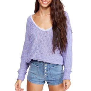 NWT Free People Thien's Hacci Sweater Boho Top XS